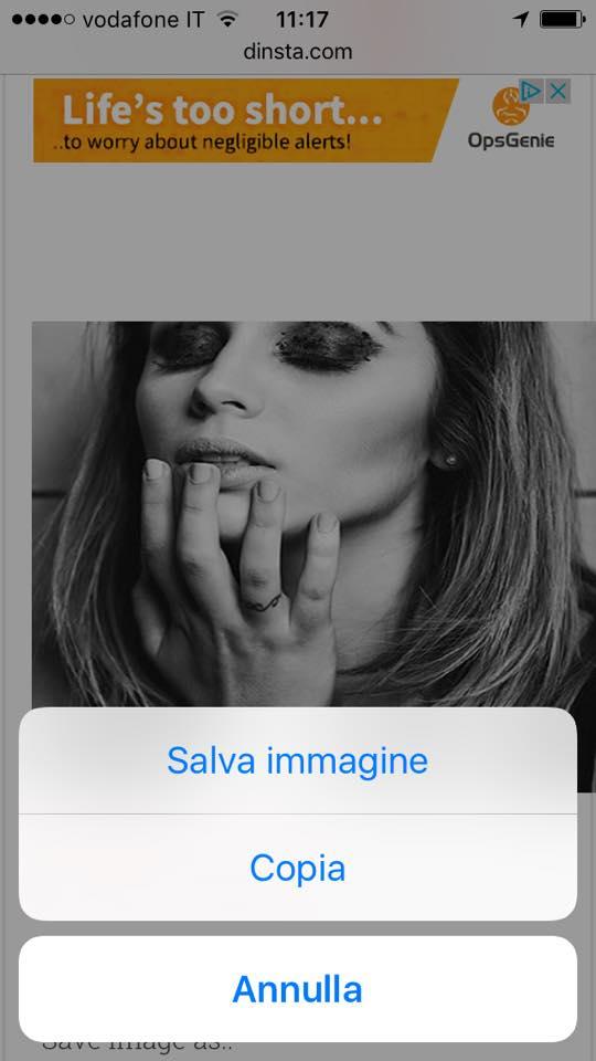 salvare foto instagram