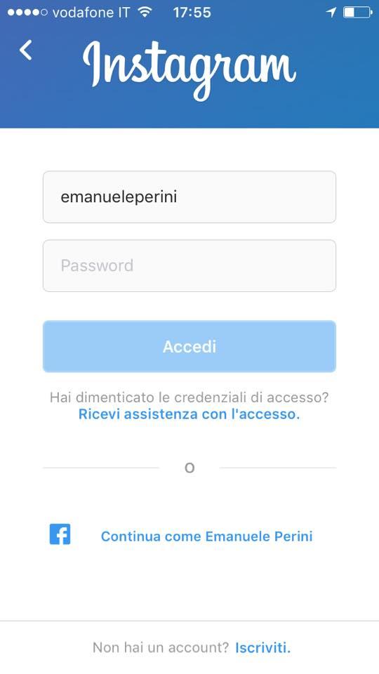 account instagram rubato