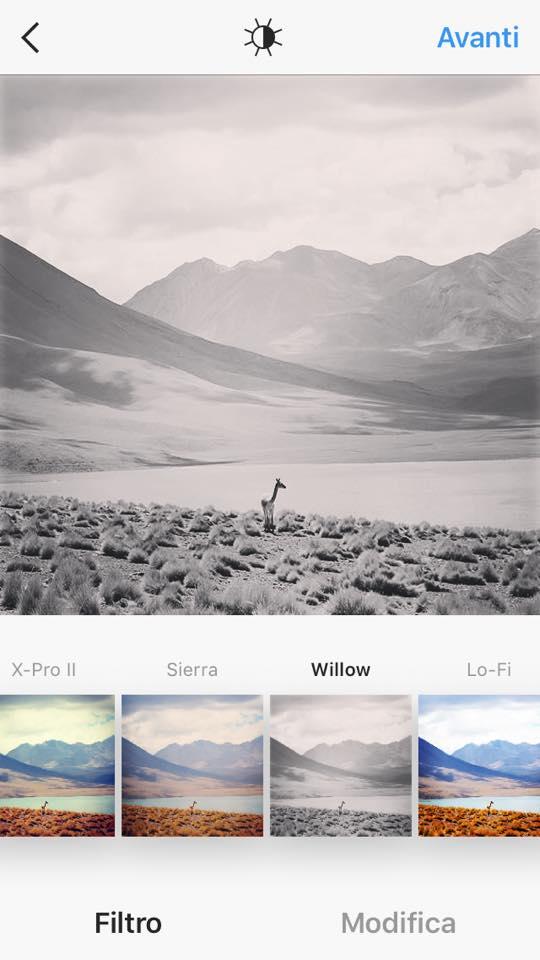 filtri instagram