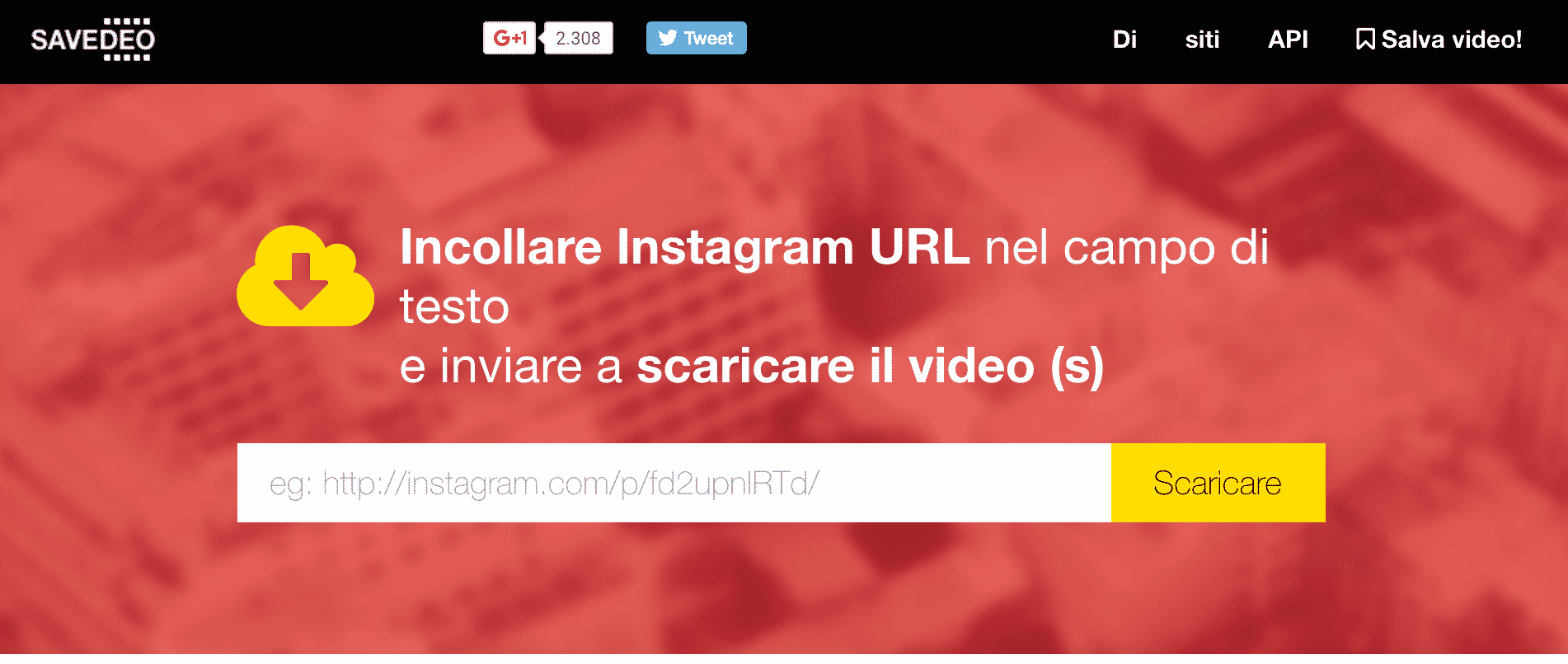 salvare video da Instagram