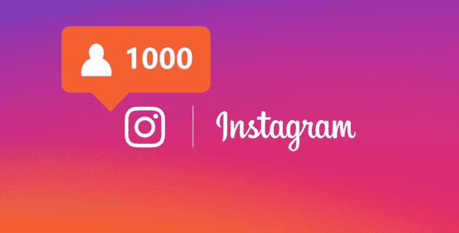 1000 followers Instagram? E' un gioco da ragazzi!