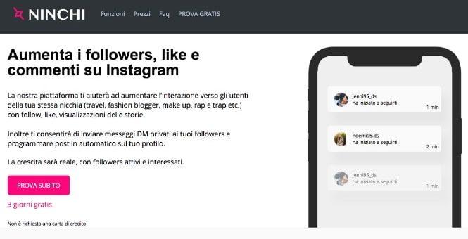 Ninchi: Il nuovo tool per crescere su Instagram