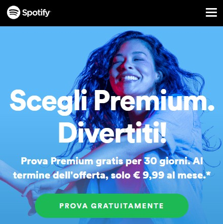 comprare play spotify