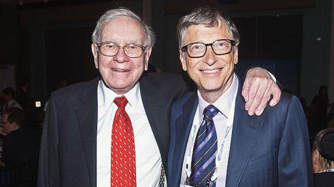 Warren Buffett con Bill Gates