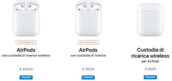 AirPods 2 costo