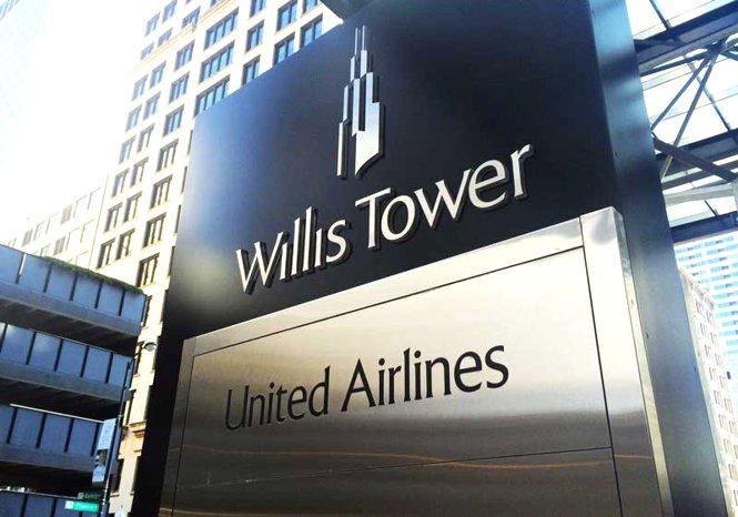 La sede di Chicago della United Airlines